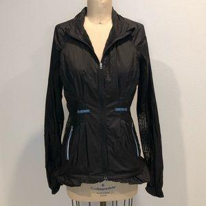 Lululemon Black Windbreaker Mesh Jacket in Size 6